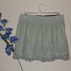 maurices Women's Large Mint Green Mini Skirt